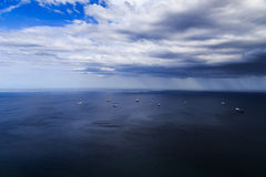 Rain front moving in Royalty Free Stock Photography