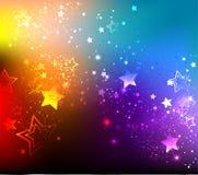 Rainbow background with stars Royalty Free Stock Photo