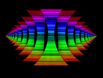 Rainbow Colored Shapes Background Royalty Free Stock Images