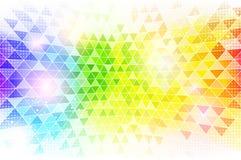 Rainbow Mosaic Background Texture Royalty Free Stock Photos