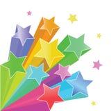 Rainbow stars Stock Image