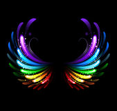 Rainbow wings Stock Image