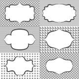Ramowe majcher etykietki etykietki Karciani szablonów puste miejsca dla Obrazy Royalty Free
