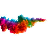 Raoinbow da tinta acrílica na água Explosão da cor Foto de Stock Royalty Free