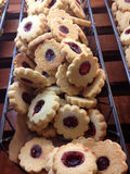 Raspberry Tart Cookies At The Bakery Royalty Free Stock Photo