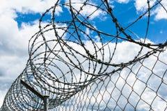 Razor Wire Security Fence Royalty Free Stock Photo