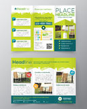 Real Estate Brochure Flyer design vector template in A4 size Royalty Free Stock Images