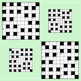 Real size crossword puzzle grids Stock Images