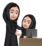 Realistic 3D Arab Woman Teacher Character Royalty Free Stock Photography