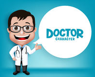 Realistic 3D Young Friendly Professional Doctor Medical Character Royalty Free Stock Image