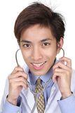 Reassuring Chinese doctor portrait Royalty Free Stock Photos