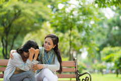 Reassuring crying friend Royalty Free Stock Images