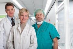 Reassuring medical team Stock Photo