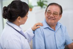 Reassuring patient Royalty Free Stock Photography