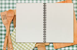 Recipe Backdrop Green Gingham Royalty Free Stock Images
