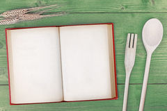 Recipe book top view Royalty Free Stock Image
