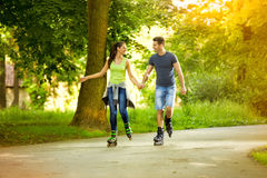 Recreation on rollerblades Royalty Free Stock Image