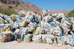 Recycling on Halki, Greece Royalty Free Stock Images