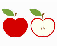 Red apple cut Royalty Free Stock Images