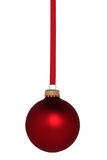 Red Ball Christmas Ornament Stock Images