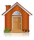 Red brick house architecture with chimney Stock Photography
