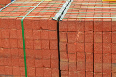Red Brick Stack Royalty Free Stock Photography