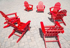 Red chairs Royalty Free Stock Photo