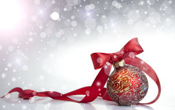 Red Christmas bal Royalty Free Stock Photo