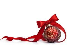 Red Christmas bal Royalty Free Stock Photos