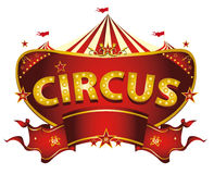 Red circus sign Stock Image
