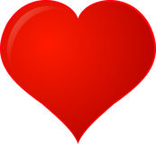 Red Clipart Heart Stock Image