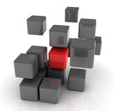 Red Cube Stock Image