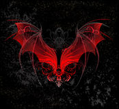 Red dragon wings Stock Image