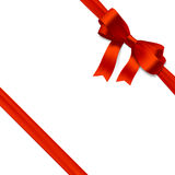 Red gift bow with ribbon Royalty Free Stock Photography