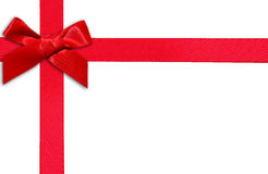 Red gift ribbon and bow Stock Photo
