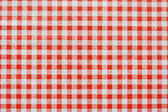 Red Gingham tablecoth background Stock Image