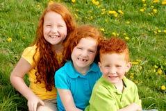 Red headed siblings portrait Stock Image