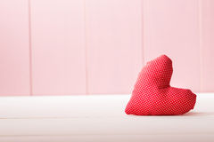 Red heart pillow Royalty Free Stock Image