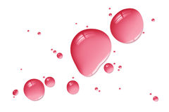Red liquid drops Royalty Free Stock Image