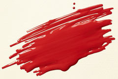 Red paint scribble Royalty Free Stock Photo