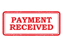 Red Payment Received Stamp or Sticker Royalty Free Stock Photo