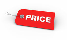 Red Price tag Royalty Free Stock Image