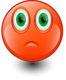 Red sad smiley face Stock Image