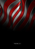 Red and silver abstract metal texture Royalty Free Stock Photography
