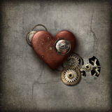 Red Steampunk Heart Stock Image