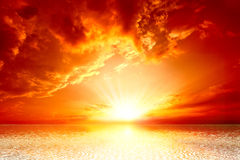 Red sunset Stock Image