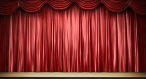 Red theater curtain Royalty Free Stock Images