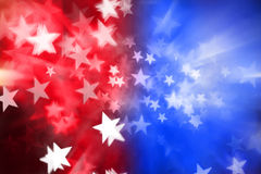 Red White Blue Stars Abstract Background Stock Photos
