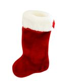 Red and White Christmas stocking Royalty Free Stock Images