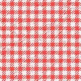 Red and white gingham tablecloth texture seamless Stock Image